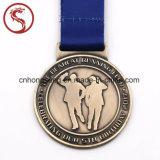 Цветастое подгонянное медаль металла спорта
