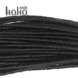 Il doppio sintetico superiore dei capelli ha concluso 12 pollici Backcombed nero Dreadlocks