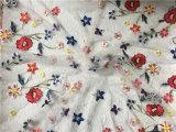 Новым вышитая прибытием ткань шнурка цветка ткани плетения 2018 для платья