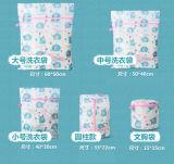 Le logo fait sur commande de vente chaud lavant 5set en gros sauvent des sacs de blanchisserie de maille