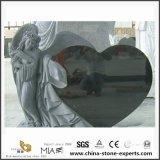 De hoge Natuurlijke Zwarte Engel van de Monumenten van het Graniet Polised Ernstige