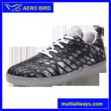 Pareja de estilo de moda LED USB Deporte zapatos para mujer y hombre