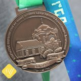 Sports Fabrik-heißes Verkaufs-kundenspezifisches Preis-Metalllaufendes Verpacken Schwimmen-Medaille