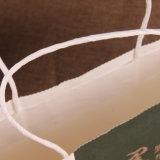 Prata do logotipo que carimba sacos personalizados do presente da compra do Livro Branco