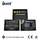 Карточка карточки TFT подарка дела LCD видео- приветствуя видео-, карточка СИД видео-