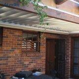 El jardín suministra la pérgola impermeable de aluminio teledirigido