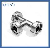 T sanitario dell'uguale dell'acciaio inossidabile degli accessori per tubi con l'estremità del sindacato