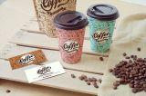 Двойные стенки крафт-бумаги держателя кофе чашки с крышкой