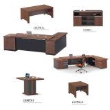 Jogos da mobília de escritório com armário, jogo executivo da tabela executiva do escritório da L-Forma da mesa