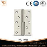 Dobradiça fixa de bronze do fechamento do Pin da porta resistente da porta (HG-1018)