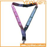 La boucle en plastique Plat la lanière de polyester avec le crochet en métal (YB-LY-33)