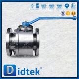 Шариковый клапан двухшпиндельной нержавеющей стали Didtek двухкусочный плавая