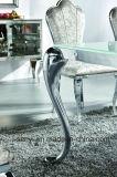 Classic & Vidro Temperado moderna mesa de jantar em aço inoxidável superior