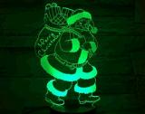 Свет ночи обмана зрения для 7 цветов изменяя заряжатель подарков 3D приведенный в действие рождеством Byusb рождества
