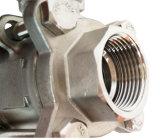 Robinet à tournant sphérique actionné pneumatique de 4 pouces de l'acier inoxydable Dn100
