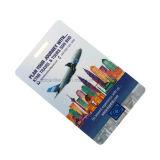 Étiquette en plastique personnalisée de bagage de PVC de ligne aérienne combinée avec la piste