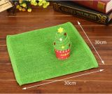 Tovagliolo di bagno promozionale appiattito del regalo di figura dell'albero di Natale