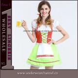 2017年のHalloweenの大人のセクシーな女性ドイツビール従来のバイエルンの女の子の衣裳(TLQZ7106)