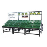 Mercado Rack de 2 capas de acero inoxidable pantalla vegetal Rack