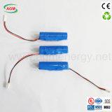 Icr 18650 2600mAh 3.7V 9.62wh mit PCM-Lithium-Ionenbatterie