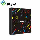 Установите флажок Kodi Android телевизор HD ресивер по спутниковому каналу H96 Max H2 Rk3328 4G 32g пульт дистанционного управления Card Reader Android 7.1 TV IPTV в салоне