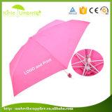 マニュアルは超小型Foldable傘を広告する5フォールドを開く