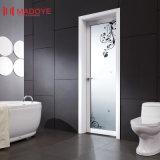 Дверь ванной комнаты металла строительного материала нутряная с полым стеклом