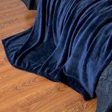 極度の柔らかい赤ん坊心配のニット毛布のフランネルの羊毛の贅沢な上海DPF著毛布によって青い対のサイズの軽量の居心地のよいプラシ天のMicrofiber洗浄される固体毛布