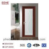 Porta de alumínio geada do vidro Tempered com cor opcional do frame