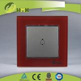 Interruttore ROSSO certificato di spinta di segnalatore acustico del vetro temperato 1gang di standard europeo dei CB del CE di TUV
