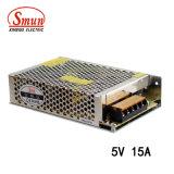 Bloc d'alimentation à sortie unique de commutateur de Smun S-75-5 75W 5V 15A
