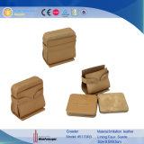 La cuvette de brun En cuir Coaster Mat verre mat (5170)