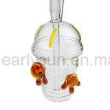 Tubulação de vidro do copo de vidro do mel com um par da tartaruga (ES-GB-004)