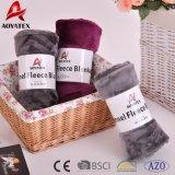 昇進の明白なカラー極度の柔らかいフランネルの羊毛毛布