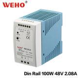 Der Mdr-100-48 Minisize LÄRM Schienen-100W 48V Konstanten-Spannung der Stromversorgungen-110/220V AC/DC