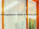 Blinds-Between manual de vidro, vidro isolante com persianas de madeira dentro