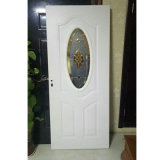 Puerta de cristal, puerta interior con el vidrio, puerta de acero con el vidrio