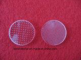 투명한 관통되는 석영 유리 접시