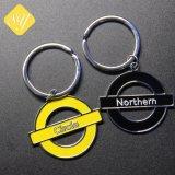 Comercio al por mayor barato Logotipo personalizado Alfabeto de Metal Llavero con anillo