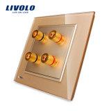 Livolo UK mur Standard de 2 Groupe Prise audio Vl-W292A-11/12/13