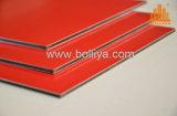 El panel decorativo compuesto de aluminio de la capa nana del PE PVDF Kynar 500 del poliester de Akzonobel Feve PPG Becker