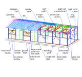 一時労働者の寮または鉄骨構造の倉庫のオフィスによって組立て式に作られる構築の家のためのサンドイッチ売春宿