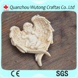 De nieuwe Decoratie van het Huis van het Beeldje van de Engel van de Baby van de Vorm van het Hart van de Hars van het Ontwerp Mini Witte