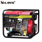 Luftgekühlter geöffneter Rahmen-Typ Dieselgenerator-Rückzug-Anfang (DG7000E)