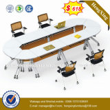 Tabella di congresso rotonda di legno del salone di bellezza piccola (HX-NCD403)