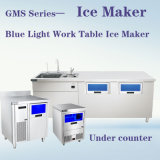 Fabricante de hielo contrario ligero azul del vector de trabajo