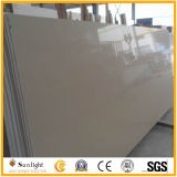 Couleurs blanc Surface solide pour la cuisine de quartz de pierre artificielle Tops