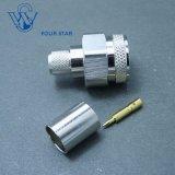 Fiche mâle N connecteur coaxial RF à sertir pour câble LMR400
