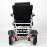 Cadeira de rodas de dobramento elétrica de alumínio portátil