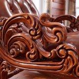 Presidenza di oscillazione di legno con l'ottomano per mobilia esterna (306)